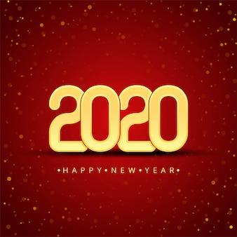 Feliz ano novo de 2020 em ouro