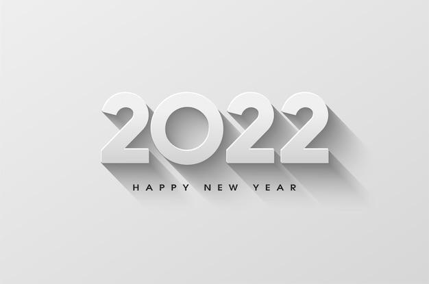 Feliz ano novo de 2022 com números 3d sombreados