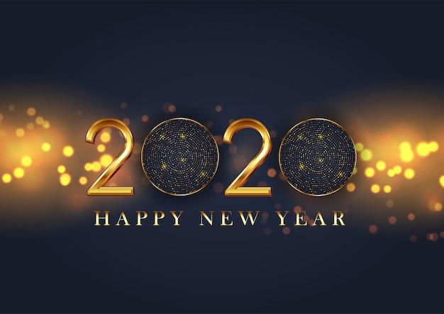 Feliz ano novo decorativo