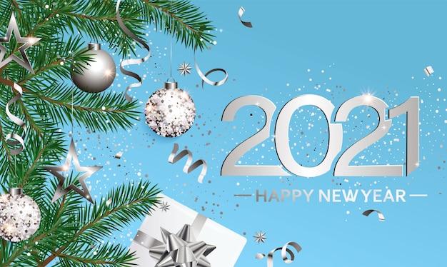 Feliz ano novo desejando um cartão para a nova temporada