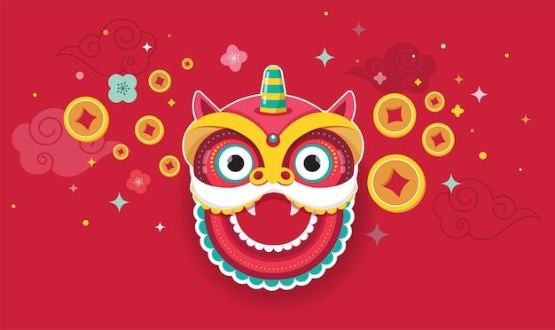 Feliz ano novo design chinês. Vetor Premium