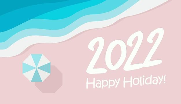 Feliz ano novo design de números para natal e ano novo feriados banner flyer calendário capa
