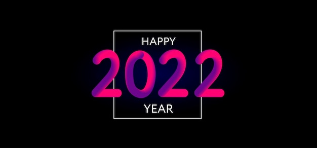 Feliz ano novo design moderno
