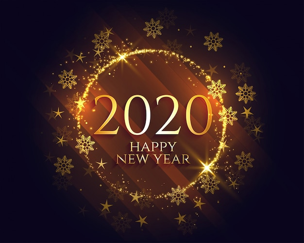 Feliz ano novo elegante dourado brilha luz