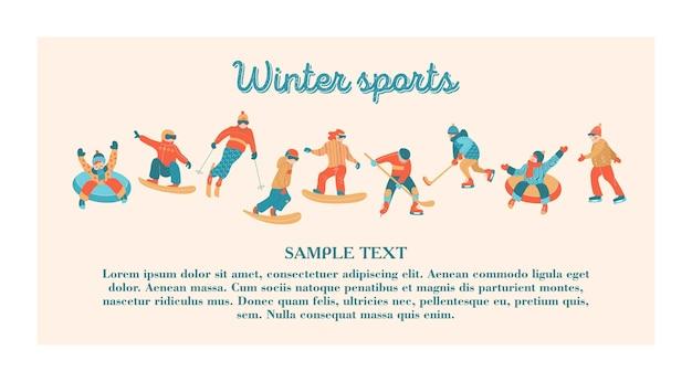 Feliz ano novo. esportes e entretenimento de inverno.