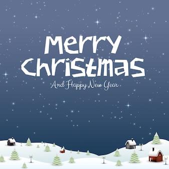 Feliz ano novo feliz natal 2019 e neve