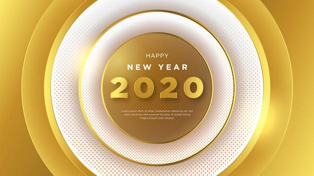 Feliz ano novo fundo, com design sofisticado e 3d