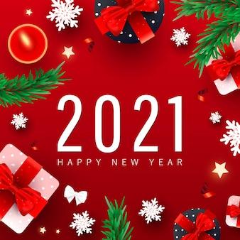 Feliz ano novo fundo com números de data