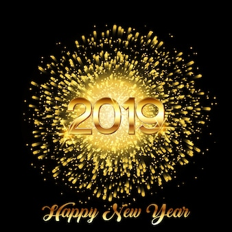 Feliz ano novo fundo de fogos de artifício