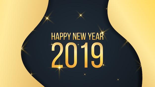 Feliz ano novo fundo dourado