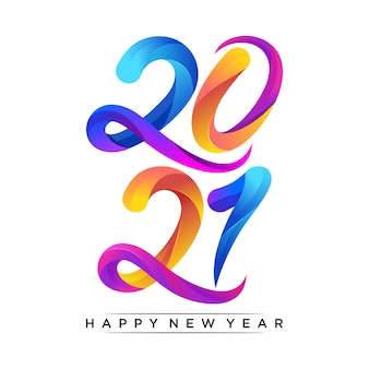 Feliz ano novo ilustração colorida