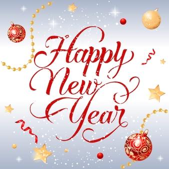 Feliz ano novo inscrição