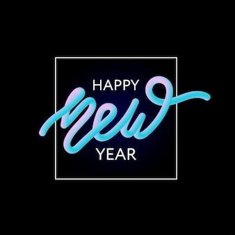 Feliz ano novo lettering moderno
