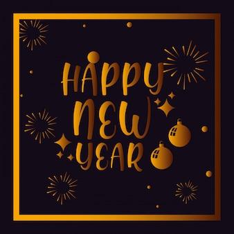 Feliz ano novo lettering