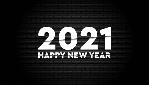 Feliz ano novo modelo 2021.