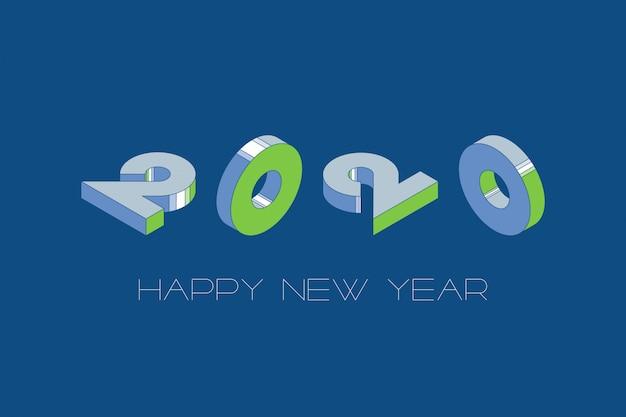 Feliz ano novo modelo de design com fundo de cor azul clássico