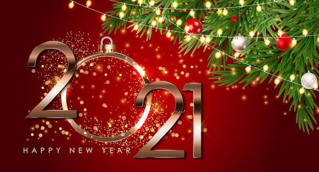 Feliz ano novo modelo de plano de fundo do feriado.