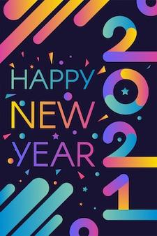 Feliz ano novo modelo elegante 2021