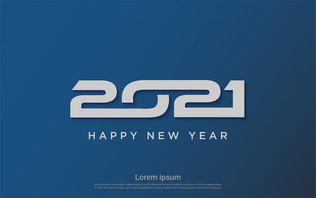 Feliz ano novo moderno 2021 fundo