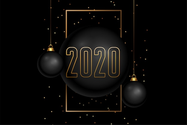 Feliz ano novo preto e dourado