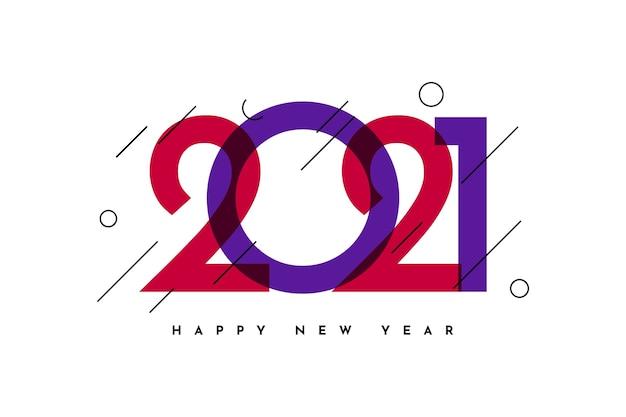 Feliz ano novo saudação celebração