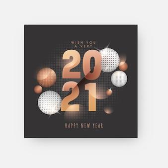 Feliz ano novo twenty twenty one concept