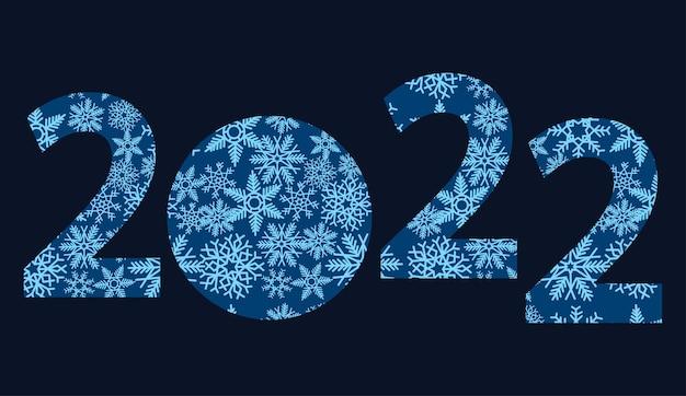 Feliz ano novo um quarto com flocos de neve em um fundo preto