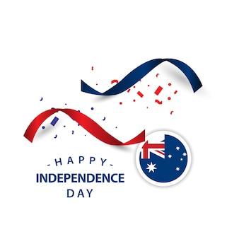 Feliz, austrália, dia independência, vetorial, desenho, ilustração