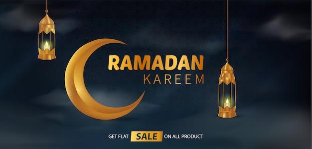 Feliz, bonito, ramadan, kareem, fundo, ilustração