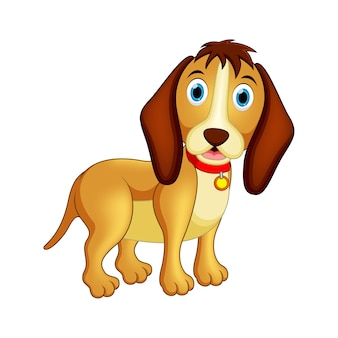 Feliz, cão, ilustração