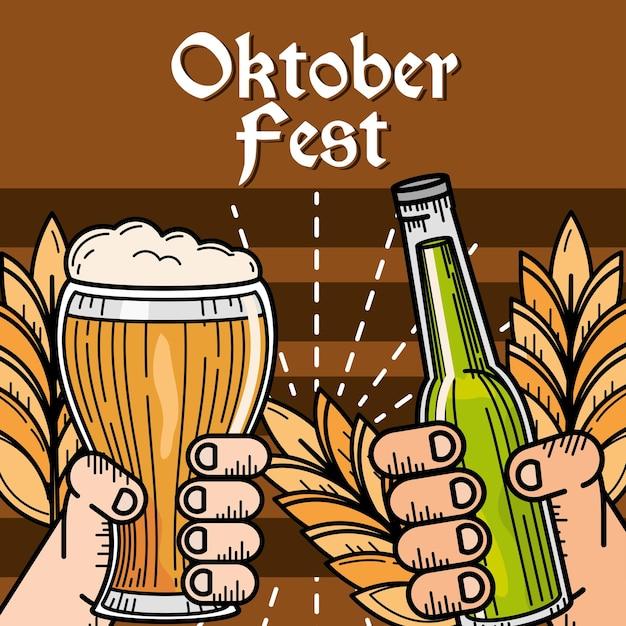 Feliz celebração da oktoberfest