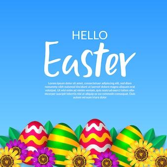 Feliz celebração de páscoa alegre