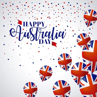 Feliz celebração do dia da austrália