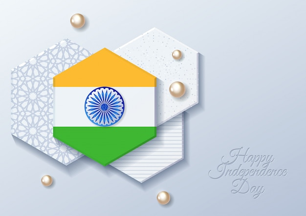Feliz celebração do dia da independência indiana - 15 de agosto