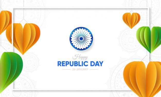 Feliz celebração do dia da república da índia