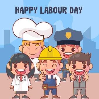 Feliz celebração do dia do trabalho