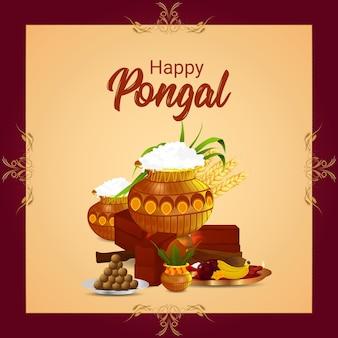 Feliz celebração do festival indiano pongal