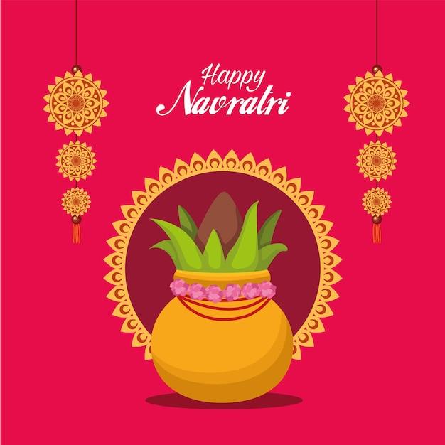 Feliz celebração do navratri