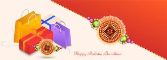 Feliz celebração Raksha Bandhan.