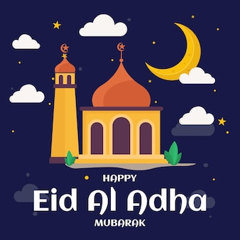 Feliz celebrador do eid al adha