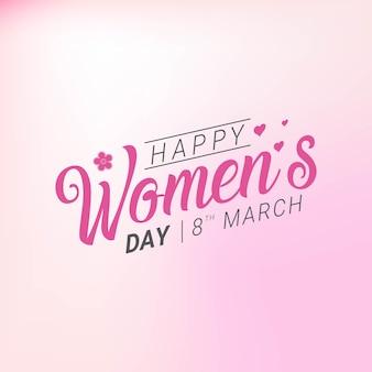 Feliz comemoração do dia da mulher em março com texto elegante