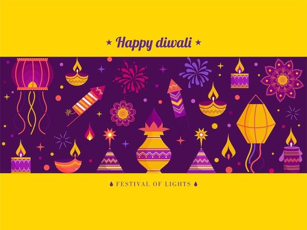 Feliz comemoração do diwali, cartão