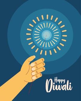 Feliz convite de celebração diwali