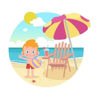 Feliz, crianças, junto, vetorial, ilustração