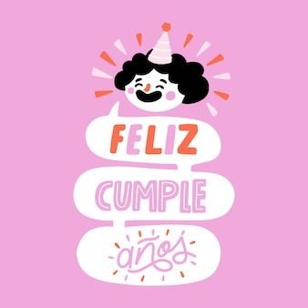 Feliz cumpleaños letras conceito