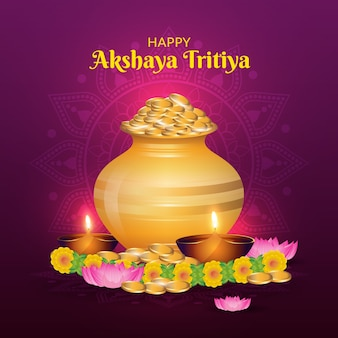 Feliz dia akshaya tritiya conceito