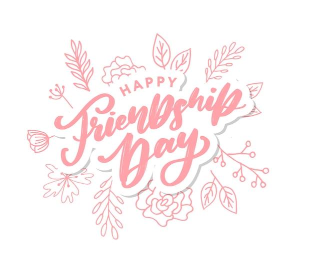 Feliz dia da amizade cartão de felicitações