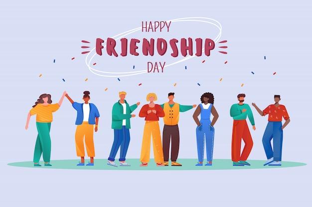 Feliz dia da amizade. feriado internacional.