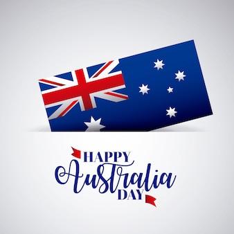 Feliz dia da austrália com bandeira