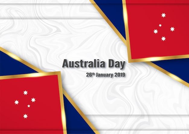 Feliz dia da austrália em 26 de janeiro.